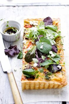Goat cheese herb tart is leaving us dreaming for summer! #cheese