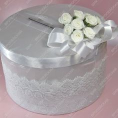 Коробка для денег Цветочные аккорды Белая