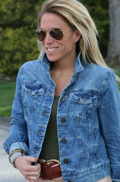 Best Spring/Summer Denim Jacket! Grab it at #searsStyle - details on the blog! #ad