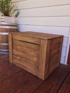 Large Rustic Wood Dry Goods Crate with Lid for Storage, Front Porch Decor, Farmhouse Decor, Mud Room Best Picture For wooden crates decor For Your Taste You are looking for something, and it is going Outdoor Shoe Storage, Porch Storage, Diy Storage Boxes, Wood Crates, Wood Boxes, Porch Toys, Shabby Chic Boxes, Rustic Wood Box, Crate Decor