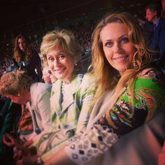 KiriOnLine | Dame Kiri Te Kanawa with Kristine Opolais at Wimbledon last year. #tbt