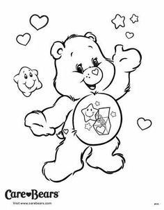 Surprise Bear coloring page