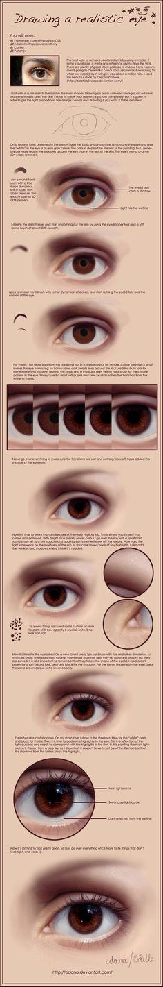 Drawing a realistic eye by Edana on deviantART