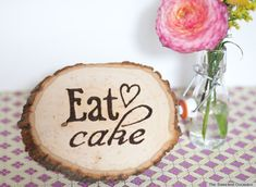 Use A Wood Burning Tool To Make A Rustic Wood Sign    Photo courtesy of The Sweetest Occasion's guest blogger Eden from Sugar And Charm
