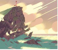 Steven Universe Background Design.  Pretty amazing