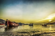 Boat at Taganga by Frank Moeller