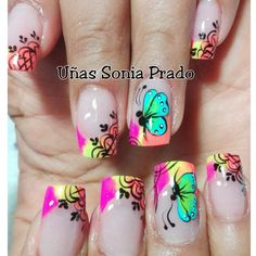 NAILSuñas Fancy Nails, Love Nails, Pretty Nails, My Nails, Nail Art For Kids, New Nail Art, Cool Nail Art, Toe Nail Designs, Nail Polish Designs
