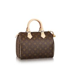 In 1965 Audrey Hepburn asked Louis Vuitton to create a smaller version of the Speedy for her to use as a day to day bag. This is how the Speedy 25 was born, the smallest of 4 sizes of the purse. In 1852, LV began as the personal box-maker and packer for Napoleon's wife, providing him a gateway to the upper class. LV began by making steamer trunks and is considered by some to be the father of modern luggage.