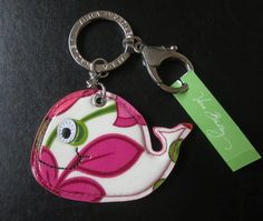 nwt Vera Bradley Keychain w/Clip Whale Seashore. Starting at $12 on Tophatter.com!