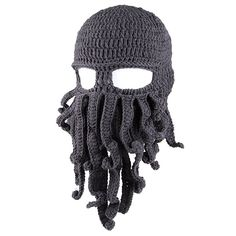 Amazon.com: Amurleopard Unisex Barbarian Knit Beanie Octopus Grey: Sports & Outdoors $5