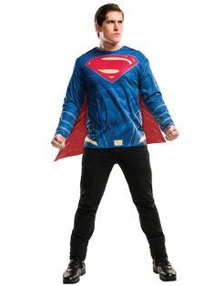 Adult Superman Costume Top License: Batman v Superman: Dawn of Justice Shop - Happy Christmas - Noel 2020 ideas-Happy New Year-Christmas Superman Shirt, Batman Vs Superman, Superman Dress, Batman Arkham, Batman Art, Batman Robin, Superhero Costumes For Men, Superman Halloween Costume, Superman Costumes