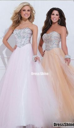 2015 Cute Embellished  Natural Sleeveless Tulle Beadings Long Prom Dress for teens, evening dress, formal dress, winter formal dress #prom #promdress