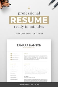 Modern resume template with a simple and clean design, well-organized structure, and easy-to-use layout. Includes one-page and two-page resume templates, cover letter, references, extra icons, and a detailed user guide for creating an eye-catching and effective job application. #resume #resumetemplate #cv #cvtemplate Template Cv, One Page Resume Template, Modern Resume Template, Creative Resume Templates, Cover Letter For Resume, Cover Letter Template, Resume Design, Cv Design, Clean Design