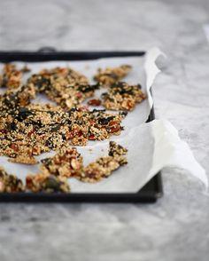 tray of deliciousness- sesame almond nori snacks