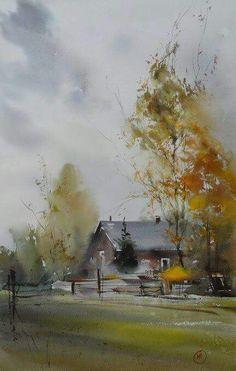 Beautiful watercolor by Ilya Ibryaev (Илья Ибряев)