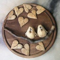 Clay Crafts, Wood Crafts, Little Birds, Coasters, Craft Projects, Decorative Plates, Coups, Fondant, Pasta
