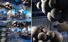 Stora härliga ballongmoln av jätteballonger