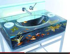 Fish tank sink