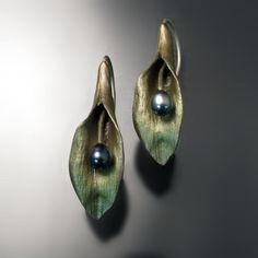 Michael Michaud Botanical Jewelry - Hosta Earrings