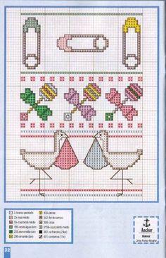 Baby Cross Stitch Pattern