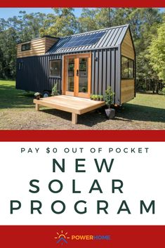 Cheap Tiny House, Tiny House Cabin, Tiny House Living, Tiny House Design, My House, Tiny Houses, Living Room, Installation Solaire, Solar Installation
