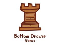 9.18.2012 | Bottom Drawer Games logo by Leon Design #nostalgic #monochrome #kidfriendly #POTD99
