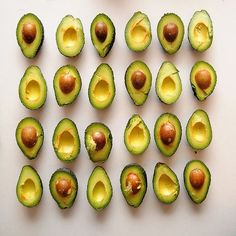 Mmmmm...avocados! Did you know these green gems contain niacin, a natural anti-inflammatory that can soothe red, blotchy skin. #eucerin #skin #skincare #foodart