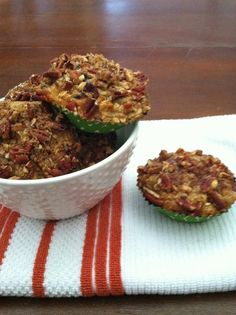 Stark Raving Delicious: Apple, Cranberry, Oat and Candied Pecan Muffins