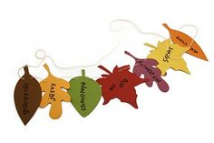 this would be cute made with felt cut out leafs and sewn through with sewing machine to create Thanksgiving garland