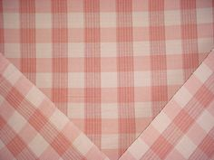 2-1/4 yards Vervain VV-0566006 Biron Check in Cranberry - Woven Cotton Picnic Plaid / Check Drapery Upholstery Fabric - Free Shipping