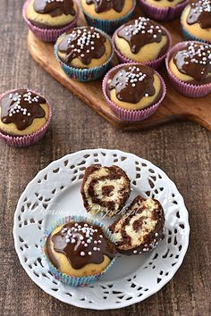 Marble muffins Best Picture For trifle Desserts For Your Taste You are looking for something, and it is going to Easy Egg Breakfast, Breakfast For Kids, Dessert Simple, Delicious Breakfast Recipes, Healthy Dessert Recipes, Easy Egg Recipes, Oats Recipes, Cupcakes, Baking