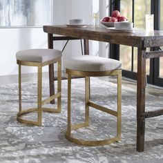 Black Counter Stools, Counter Height Chairs, Bar Chairs, Bar Stools, Accent Furniture, Dining Room Furniture, Gold Furniture, Vintage Furniture, American Home Furniture