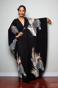 Boho Maxi Dress  Long Wide Sleeve Kimono Dress  Funky by Nuichan, $58.00