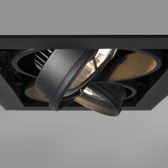 Shop for Rectangular built-in spot black - Oneon online! Recessed Spotlights, Led Lampe, Working Area, Bathroom Inspiration, Lighting Design, Light Bulb, Rings For Men, Building, Accessories