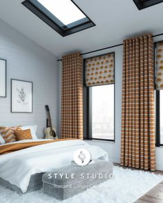 Luxurious Roman Blind & Curtain Combination From Solar Sunshades. Showrooms in Cardiff & Bridgend Roman Blinds, Curtains With Blinds, Blinds Inspiration, Colorful Curtains, Cardiff, Pattern Mixing, Bliss, Solar, New Homes