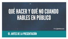 En España no nos preparan para hablar en público. La formación reglada no lo contempla. Y eso que es una actividad que tarde o temprano deberemos afrontar.