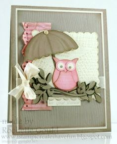 Owl baby shower card