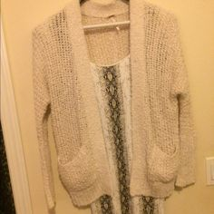 Free people distressed shag sweater cardigan Small worn twice great with tights or a dress Free People Sweaters Cardigans