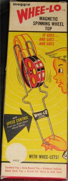 1960s Whee-Lo Magnetic Spinning Wheel Top #Vintage #Toys