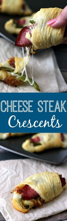 Cheese Steak Crescents.  The most delicious quick dinner!