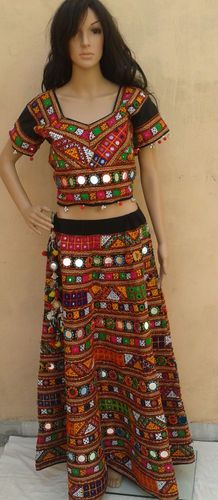 Rabari Banjara Tribal Ethnic BellyDance Mirror ATS Skirt Chaniya Choli Costume   eBay