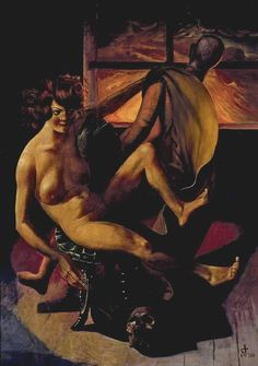 Otto Dix (German, 1891-1969) Melancholy (1930) Mixed media on wood, 137 x 98 cm. Otto Dix Stiftung, Vaduz