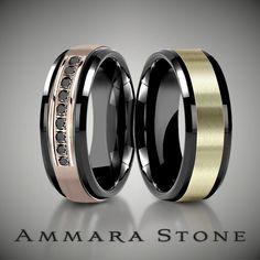 Classic style + black titanium =  #ammarastone #blacktitanium #mensfashion #menswear #weddingband #picoftheday #menstyle