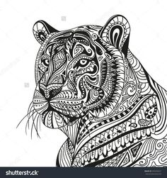488 beste afbeeldingen coloring tiger in 2019