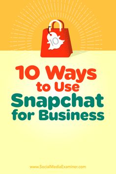 Wondering how to use Snapchat for your business?  Snapchat can help you build an engaged following, increase loyalty, and boost your brand visibility.  In this article, you'll discover 10 ways to use Snapchat for business. Via @smexaminer.