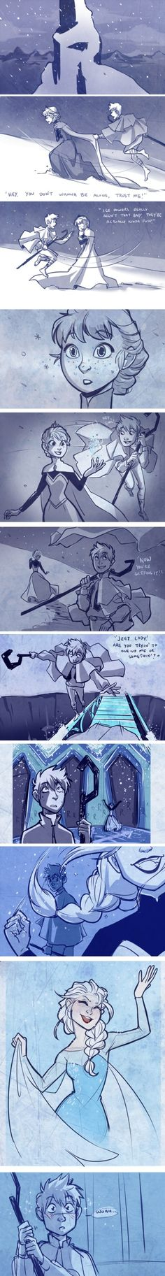 Frozen fan art - Jack Frost / Elsa Okay, I sorta ship this now... I can work with this. :3
