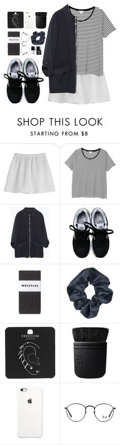 """""""Beth"""" by sulk-y ❤ liked on Polyvore featuring Tara Jarmon, Monki, Zara, New Balance, Topshop, NARS Cosmetics, Ray-Ban and Butter London"""