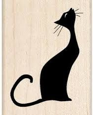 Inkadinkado Musical Cat Wood Stamp: Cool cat singing her song in silhouette on this wood stamp. Create interest on cards, scrapbook pages and more. Coordinates with other stamps. Musical Cats, Mundo Hippie, Image Chat, Black Cat Art, Photo Chat, Cat Quilt, Wood Stamp, Cat Silhouette, Cat Crafts