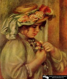 Young Girl in a Hat  Pierre Auguste Renoir