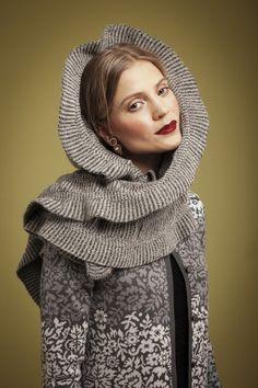 Oleana Cardigan Design 196-D, Alpaca Scarf Design 415-D, Wristlets Design 194-O, Oleana Norwegian Sweaters, Blankets